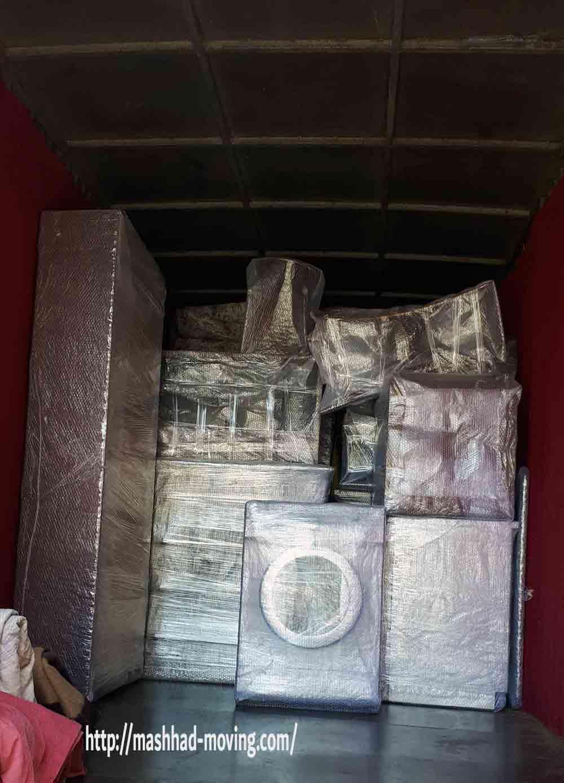 حمل اثاثیه منزل مشهد مطابق با تعرفه